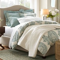 Lucianna Medallion Duvet Cover & Sham - Blue | Pottery Barn