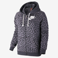 The Nike Rally Full-Zip Cheetah Women's Hoodie.