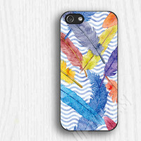 Colorful Feather pattern  iphone 5c cases, iphone 4 cases, iphone 5s cases,christmas gifts 063