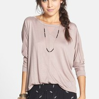 Elodie Mixed Media Tee (Juniors) | Nordstrom