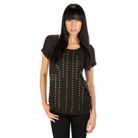 Timing Juniors Studded Two-Tone Top at Von Maur