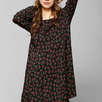 Pins And Needles Long-Sleeve Floral Dress - Urban Outfitters