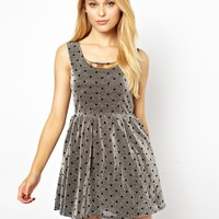 Jovonnista Metallic Skater Dress