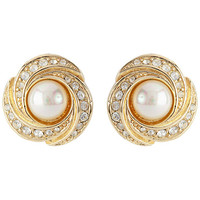 Buy Susan Caplan Vintage 1960s Grosse Gold Plated Faux Pearl Swirl Clip-On Earrings online at John Lewis