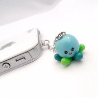 Kawaii Octopus Phone Charm, Squid, Octopus, Dust Plug or Cell Phone Strap, for iPod, iPhone, Cute :D
