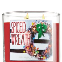 Spiced Wreath 14.5 oz. 3-Wick Candle   - Slatkin & Co. - Bath & Body Works