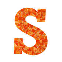 Orange Mosaic Letter, Made to Order