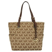 Michael Kors Jet Set East / West Signature Tote at Von Maur