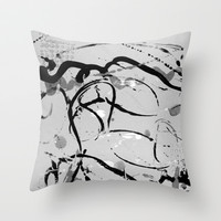 grey play Throw Pillow by clemm