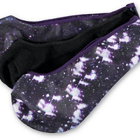 Empyre Girls 3 Pack OMG Galaxy Print No Show Socks at Zumiez : PDP