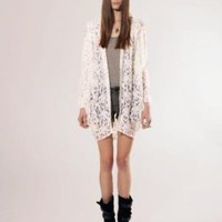 White lace cardigan [Mik4822] - $101 : Pixie Market, Fashion-Super-Market