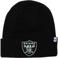 '47 Brand Oakland Raiders Raised Cuff Beanie - Black