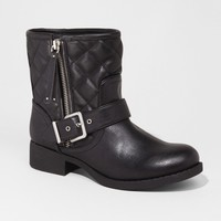 QUILTED MOTORCYCLE BOOT