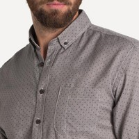 Bellvue Pin-Dot Shirt in Coal