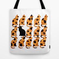 CATTERN - CHEETING Tote Bag by catspaws