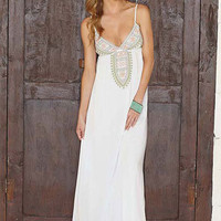 Adelina Embroidered Maxi Dress at Alloy