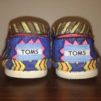 Custom Tribal Print Toms