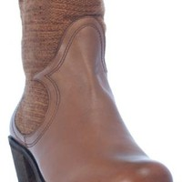 Leather & Wool Insert Boots In Camel