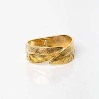 Gold Gold - Lavish Gold Leaf Wrist Cuff | UsTrendy
