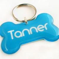 Blue Bone Pet Id Tag - Happy Tags