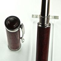 Handcrafted Wooden Pen Hand Turned Fountain Pen Beautiful Blood Wood and custom Finial with Rhodium Hardware 505FPA