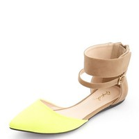 Color Block Ankle-Cuff Flat: Charlotte Russe