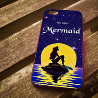 In The Moonlight Ariel The Little Mermad Case For iPhone 4/4S iPhone 5/5S/5C and Samsung Galaxy S3/S4 ellocase