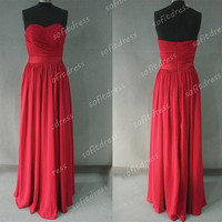 red prom dresses, elegant prom dresses, chiffon prom dress, affordable prom dresses, prom dresses, evening dresses, BE0341