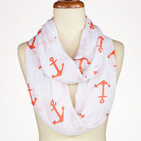 Coral Anchor Infinity Scarf | Shop by Category| Mother&amp;#39;s Day | World Market