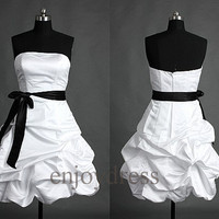 White Short Prom Dresses Lovely Ball Gowns Formal Evening Dress Party Dresses Wedding Party Dress  Bridemaid dresses 2014 Dress Party