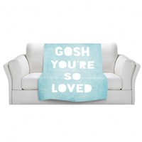 Artistic Velveteen Throw Blanket | Rachel Burbee | Loved Blue |