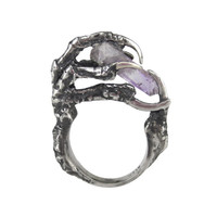 The Hunted Sterling Silver Crow Claw Ring | Eilisain Jewelry
