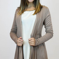 Basic Cardigan in Mocha | Timing