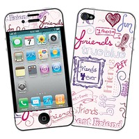 Friends Pink Skin  for the iPhone 4/4S by skinzy.com