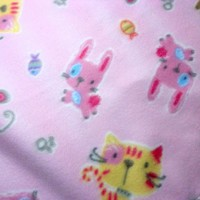 Baby Blanket Infant Girl Pink Animals Soft Warm Fleece Handmade