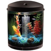 KollerCraft AQUARIUS AquaView 360 Aquarium Kit with LED Light - 2-Gallon