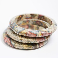 Set of 3 EcoFriendly Map Bangle Bracelet New by SquishySushi