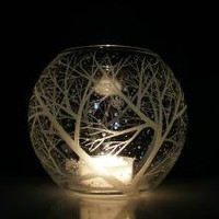 Glass Globe Candle Holder 'Reaching Branches by daydreemdesigns