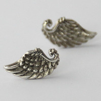 Tiny Wing Earrings,  925 Sterling silver petit Angel wings