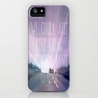 Just Keep Going iPhone & iPod Case by Ally Coxon