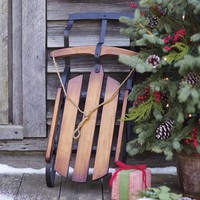 Decorative Wooden Sleigh Home Accent - Plow & Hearth