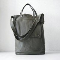 Supermarket - Briefcase in Army Green Leather from Jenny N.