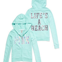 Bling Zip Hoodie - PINK - Victoria's Secret