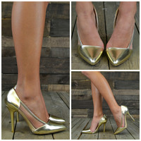 Goldie Gates Metallic Trend Pumps