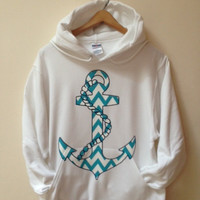 Pullover Hoodie - Chevron Zigzag Anchor