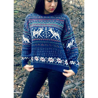 SALE Classic Vintage Christmas Sweater by VexxedVintage on Etsy