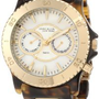 Anne Klein New York Women's 122024WMTO Multi-Function and Gold-Tone Tortoise Resin Bracelet Watch