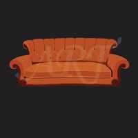 Big Orange Couch Artwork