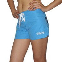 Womens BILLABONG SOURCE Casual Beach & Surf Summer Shorts - Blue - Size: 1