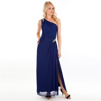 Alex Evenings One-Shoulder Gown with Beaded Trim at Von Maur